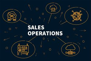 sales operation with bubble head logo
