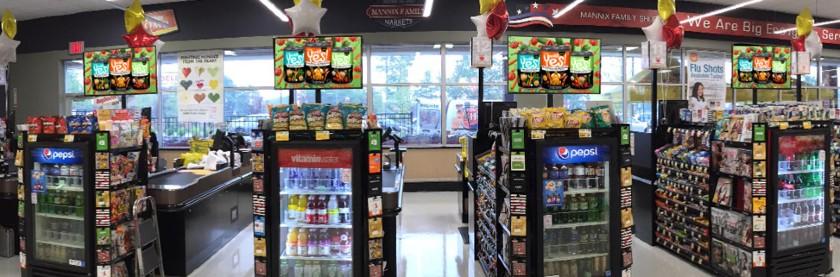 HD Monitors Displayed at the Checkout Counters