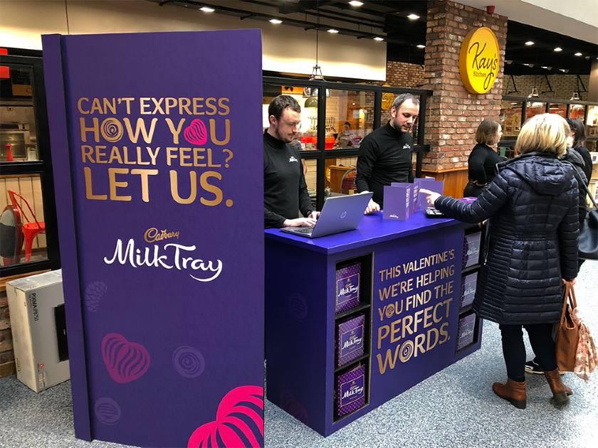 Popup Cadbury Display