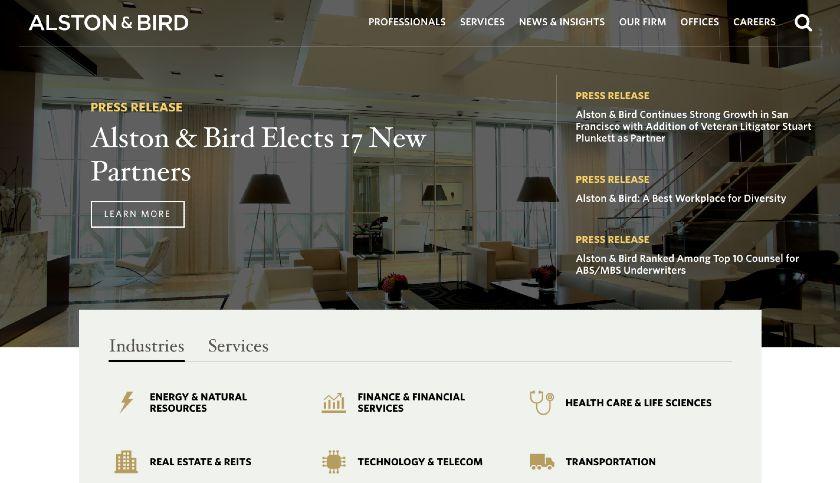 Alston and Bird website