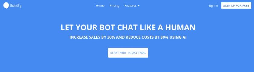 Botsify website