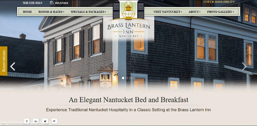 Brass Lantern Inn website