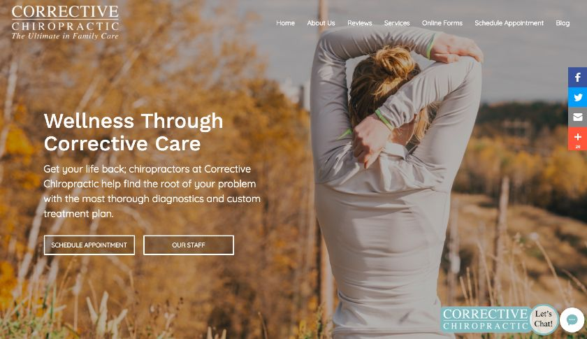 Corrective Chiropractic website