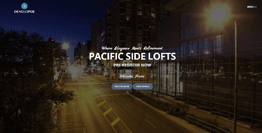 Developer Real Estate Website Theme Sample