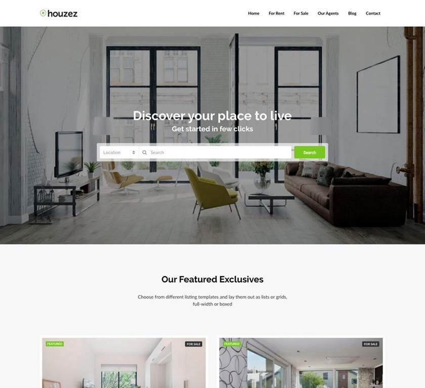 Houzez Real Estate Website Template Sample