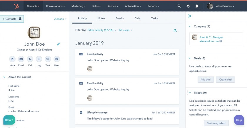 HubSpot Automation Actions