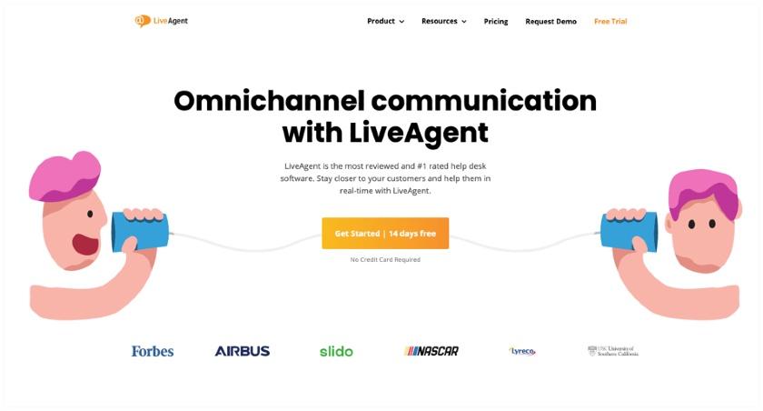 LiveAgent website