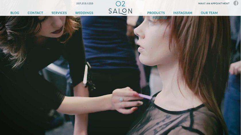 O2 Salon website