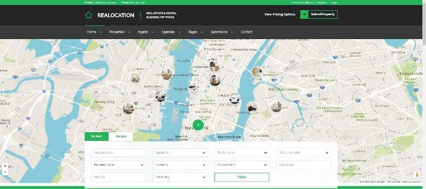 Realocation Real Estate Website Template Sample