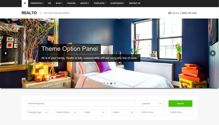 Realto Real Estate Website Template Sample