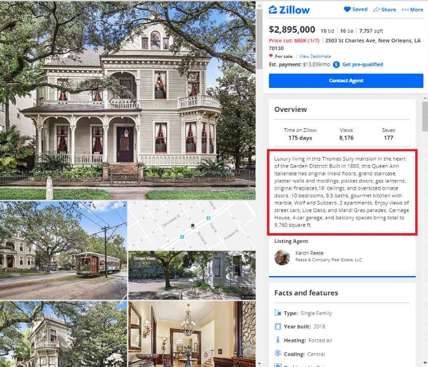 Reese and Company Real Estate Property Listing