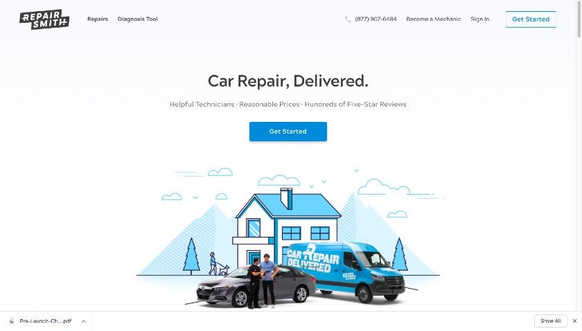 Repair Smith website