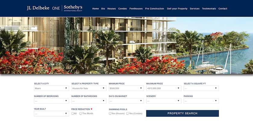 Screenshot of Sample website made using IDX Broker