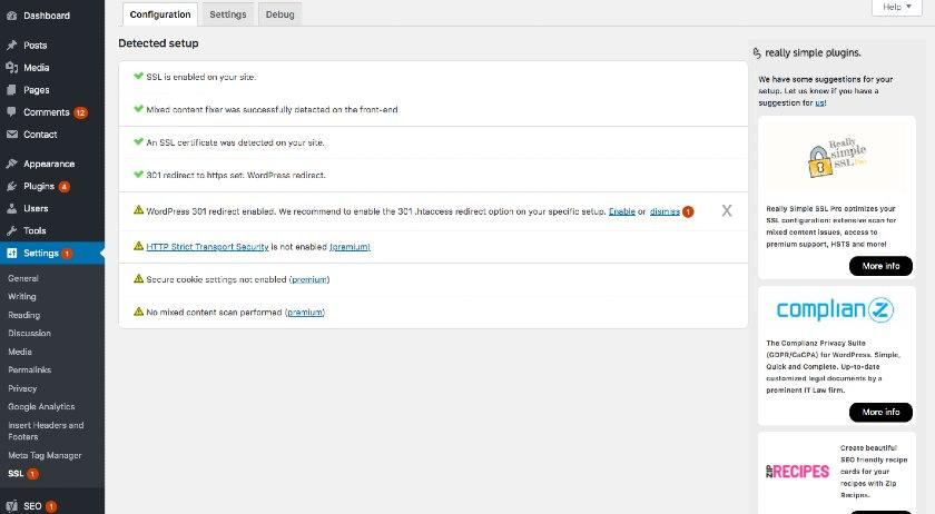 Settings Menu Option in WordPress