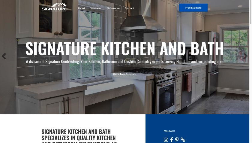 Signature Kitchen and Bath website