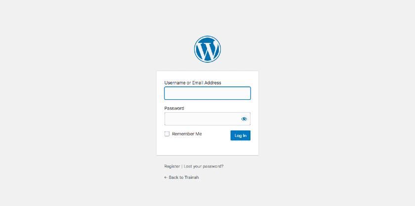 WordPress Admin Log in Page