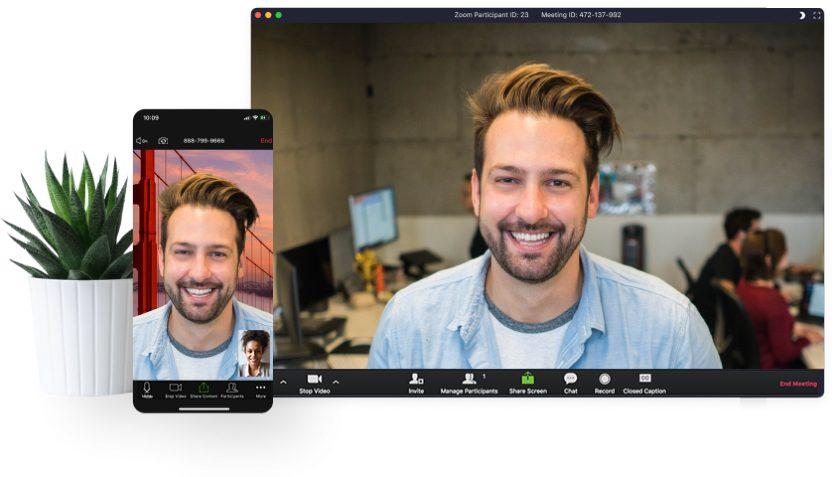 Zoom Video meetings interface