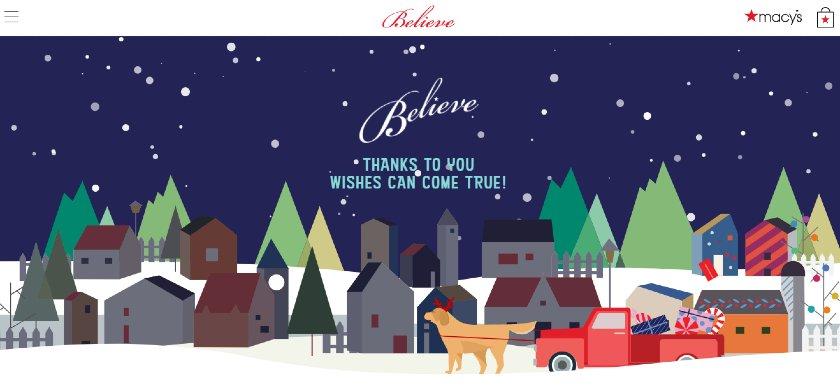 Screenshot of 2D Animated Christmas Display