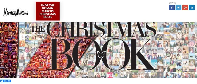 Screenshot of Christmas Catalogue Display