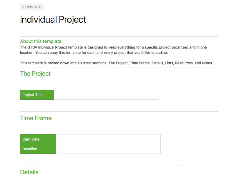 Screenshot of Evernote Individual Project