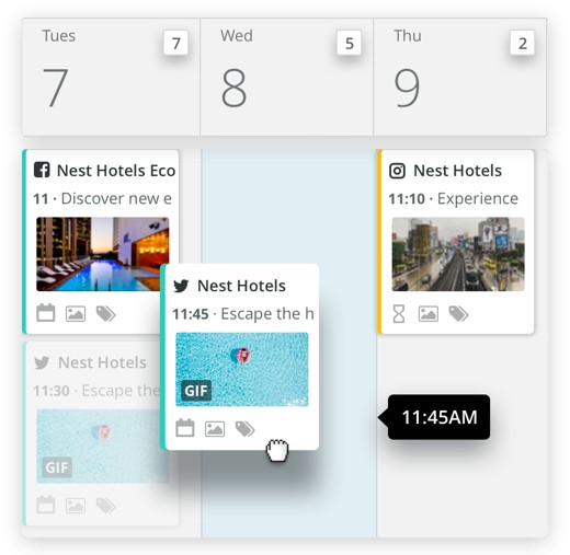Screenshot of Hootsuite Providing a Content Calendar