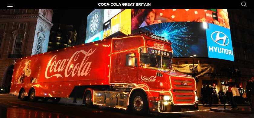 Screenshot of Iconic Coca-Cola Truck Christmas Display
