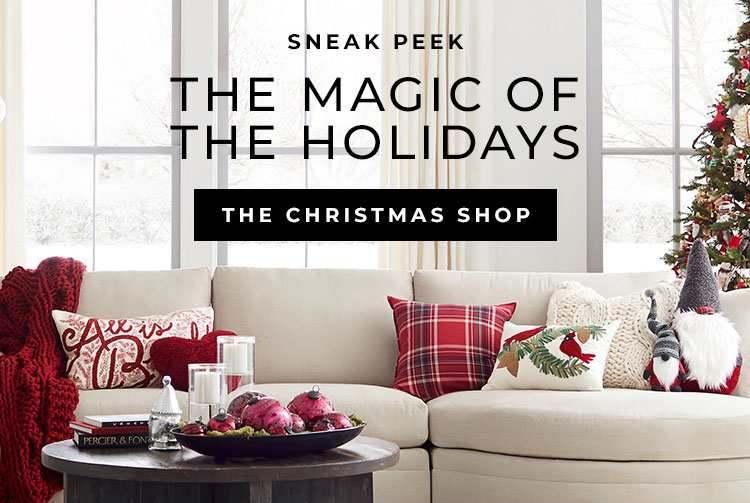Screenshot of Sneak Peek Christmas Shop Display