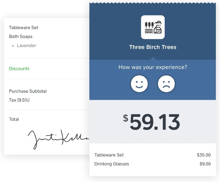 Screenshot of Square Collecting Customer Feedback Automatically