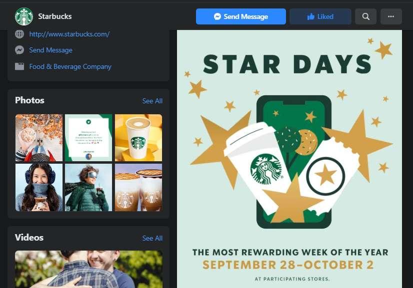 Screenshot of Starbucks Christmas Thumbnail Display
