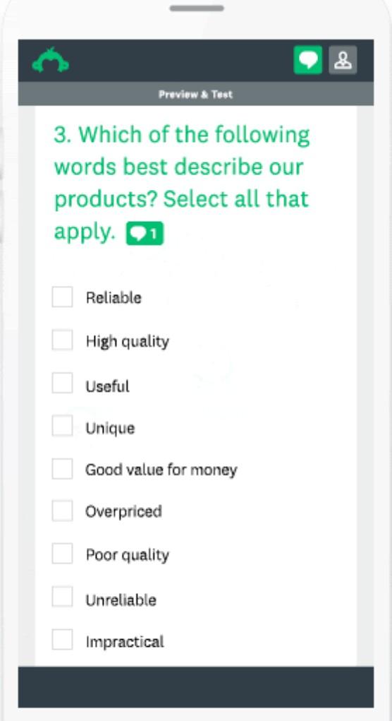 Screenshot of SurveyMonkey Mobile App