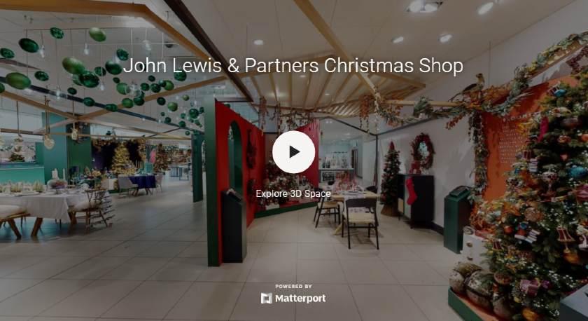 Screenshot of Virtual Reality Christmas Display