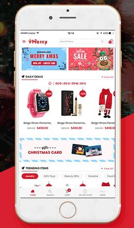 Screenshot of WordPress Theme Christmas Display on Mobile