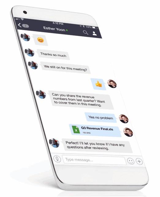 Screenshot of Zoom App on Mobile