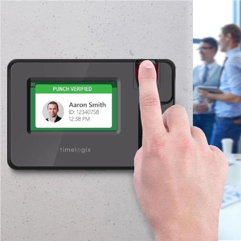Timelogix fingerprint time clocks