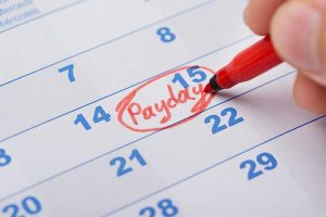marking payday on calendar
