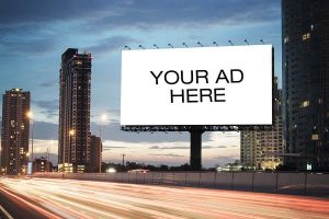 Billboard with text Your Ad Here