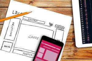 Website Design Sketched on Paper