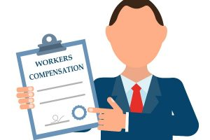 workers compensation vector image