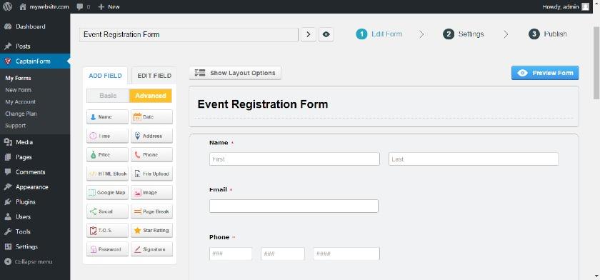CapitainForm Registration