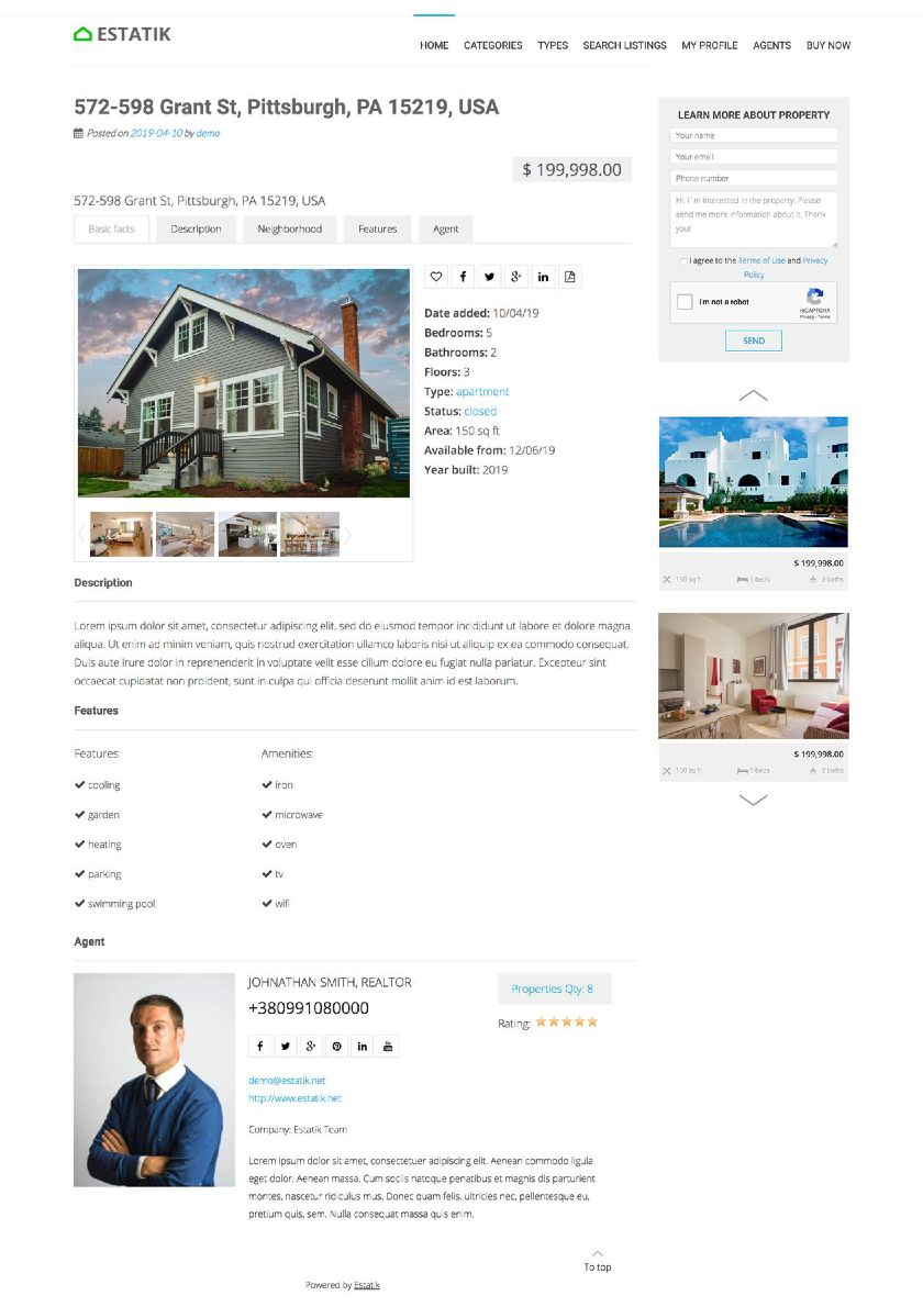 Estatik Property Details