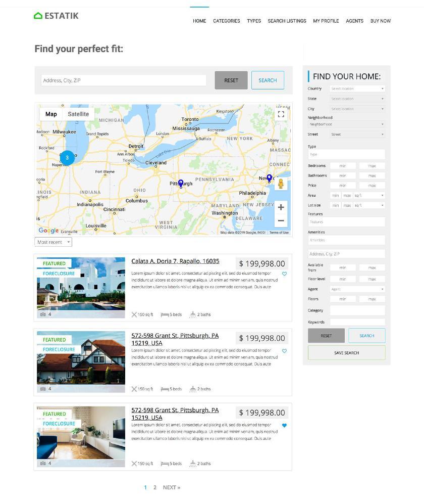 Estatik Property Search