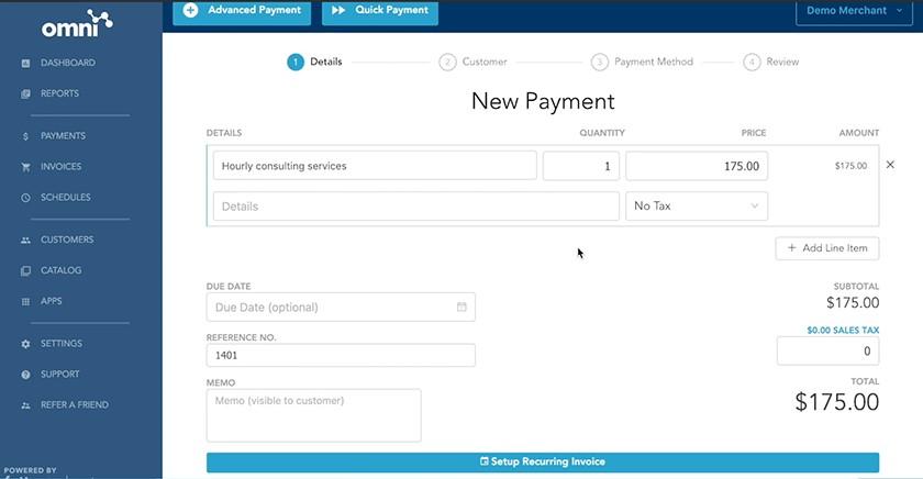 Fattmerchant New Payment sample