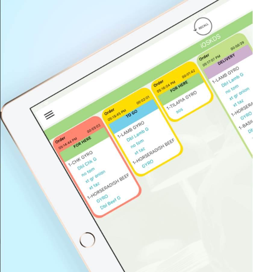 Screenshot of Fresh KDS Features
