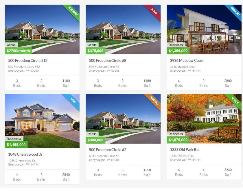 IMPress Listings front-end display