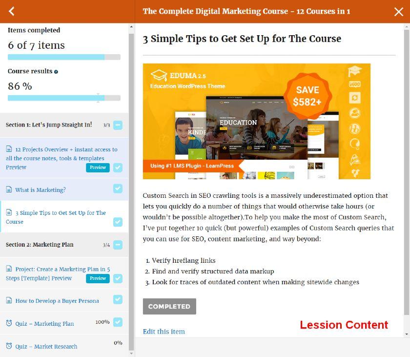 LearnPress Quiz Interface