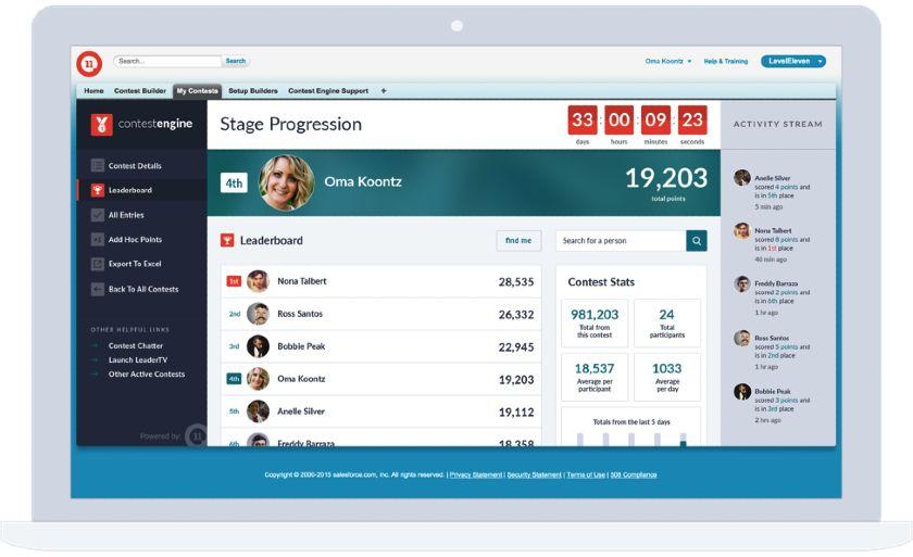 LevelEleven leaderboard example