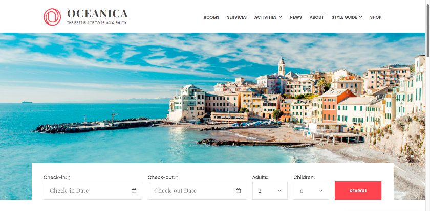 MotoPress - Oceanica Booking site Sample