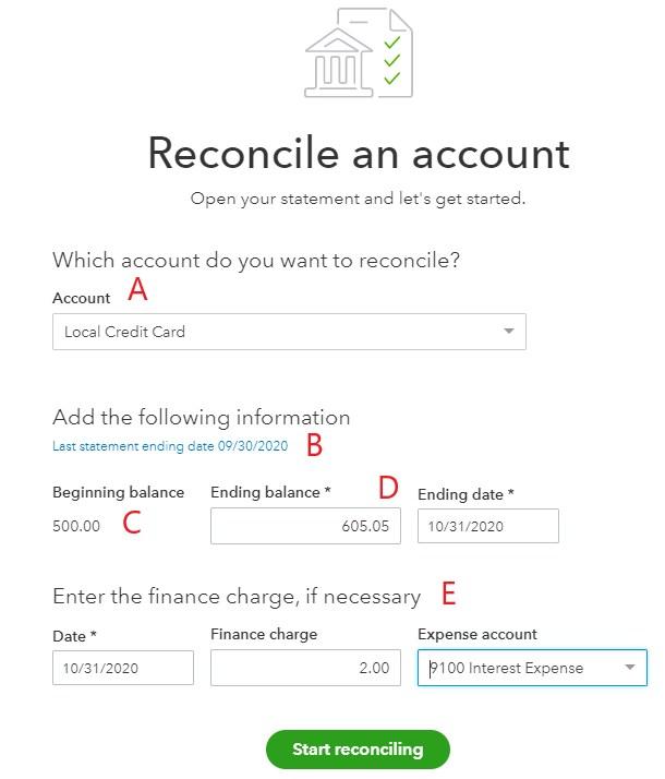 QuickBooks Credit Card Reconciliation
