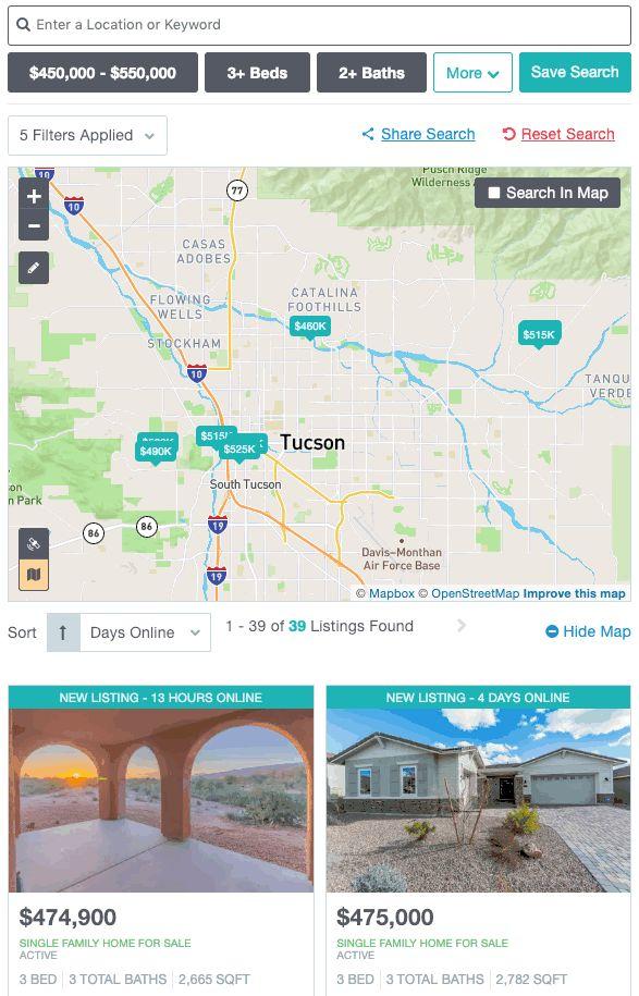 Showcase IDX Property Search