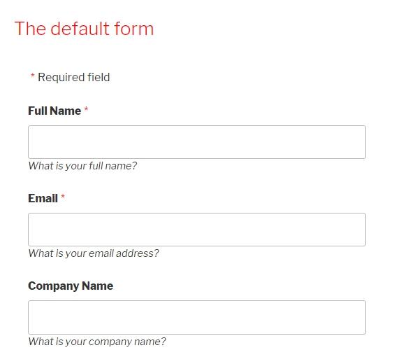 Strong Testimonials default form